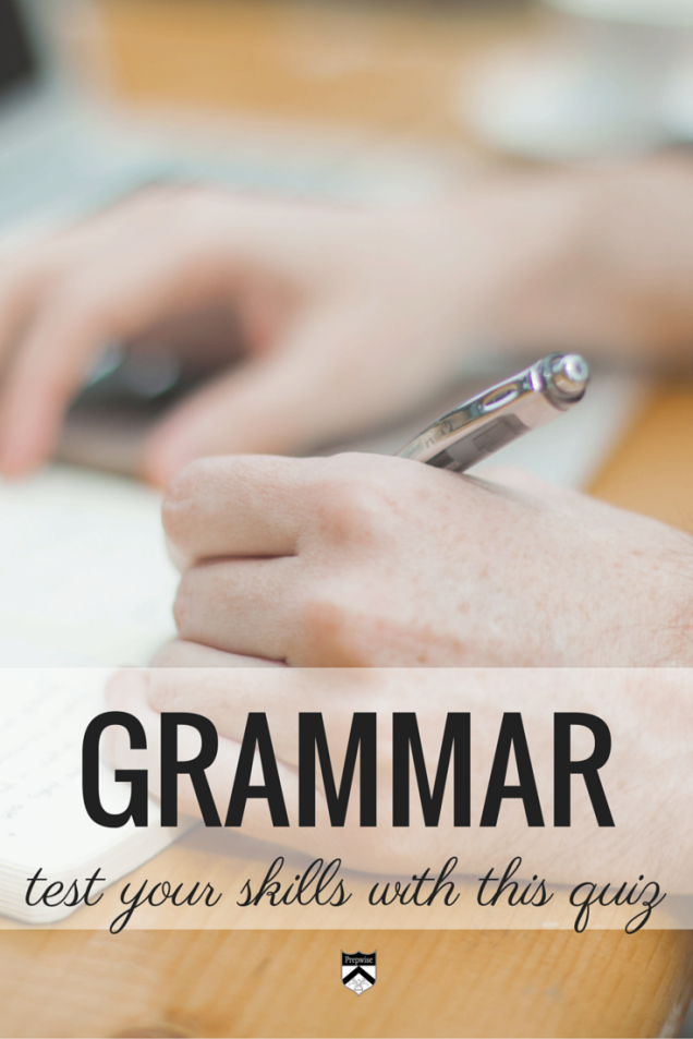 Test your grammar skills by answering these two questions.