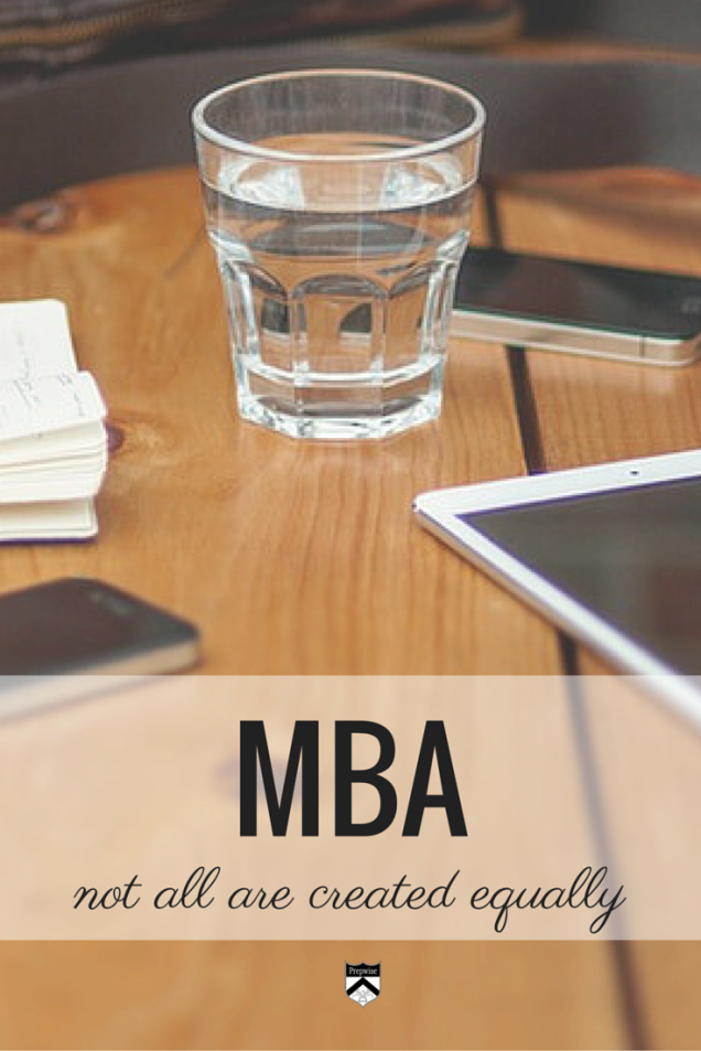 MBAs are not created equal