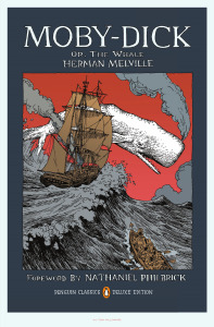 Moby-Dick by Herman Melville is our #Book-A-Day suggestion.