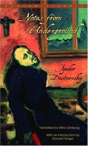 Notes from Underground by Fyodor Dostovesky is today's AP suggested reading #Book-A-Day choice.