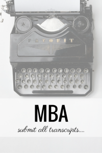 mba all transcripts
